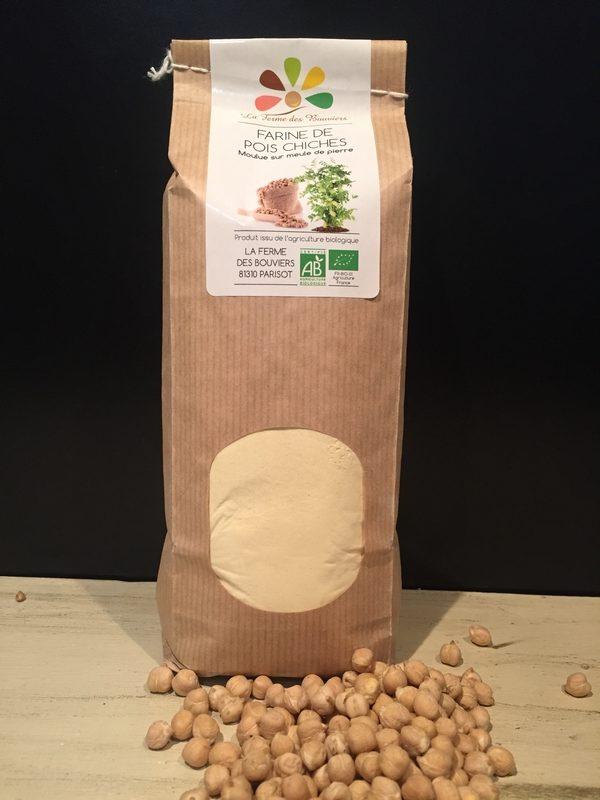 Farine de Pois Chiches BIO - La Ferme des Bouviers