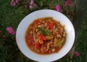 Assiette de pois chiches à la catalane - La Ferme des Bouviers