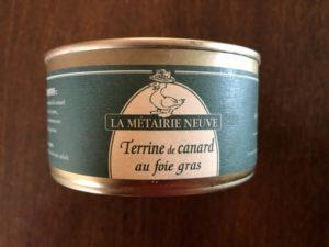 Terrine canard foie gras - La Métairie Neuve