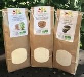 Lot de 3 farines pour faire des crêpes et des galettes - LA ferme des Bouviers - 150 px